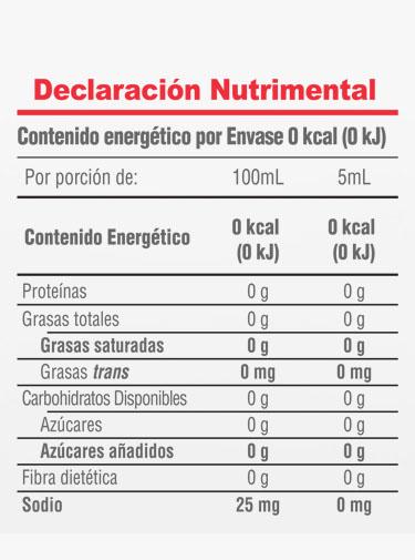 Informacion Nutrimental - Vainilla El Papantla®